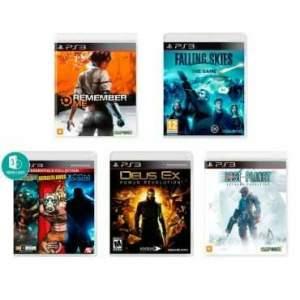 Combo PS3 Sci-Fi com 7 Jogos  R$179.90