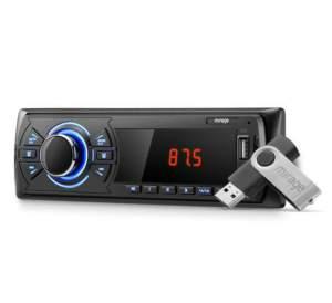 Som Automotivo Mirage Mp3 Player C/ Rádio Fm, Entrada Usb, Sd E P2 Auxiliar + Pendrive 4gb
