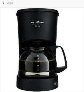 Cafeteira Elétrica Britânia CP14 até 14 Cafés - Preta