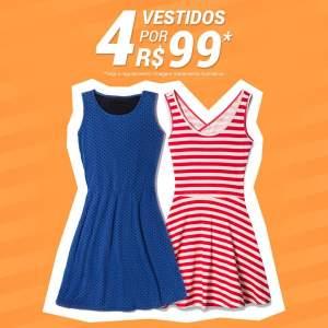 [Dafiti] 4 Vestidos por R$ 99,00