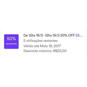 [ CABIFY ] 50 OFF para todo Brasil