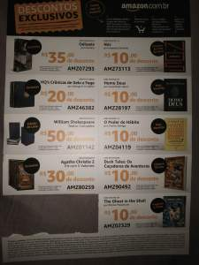Vários títulos com desconto na Amazon (cupons de desconto)