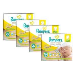 Fraldas Pampers Recém-Nascido RN - 80 Unidades por R$ 40