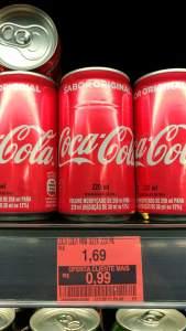 Coca Cola 220ml $0,99 no Minuto Pão de Açúcar