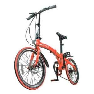 Bicicleta Dobravél Pliage Vermelha / Freio a Disco / 7 marchas / Banco de Couro Sintético por R$ 1190