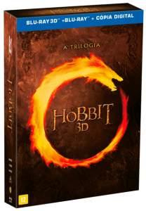 Blu-ray 3D Trilogia O Hobbit - 12 Discos