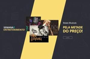 Boxes Musicais com 50% de desconto na Saraiva