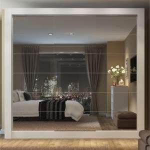 Guarda-Roupa Casal 3 Portas com Espelho Campos Plus Madesa Branco por R$ 900