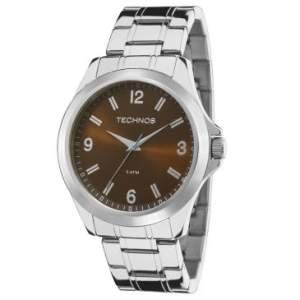 Relógio Masculino Technos, Analógico, Pulseira de Aço, Caixa de 4,4 cm por R$ 110