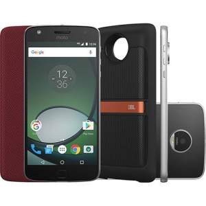 "Smartphone Moto Z Play Sound Edition Dual Chip Android 6.0 Tela 5.5"" 32GB Câmera 16MP - Preto - R$1600"