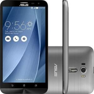 "Smartphone Asus Zenfone 2 Laser Dual Chip Desbloqueado Android 6 Tela 6"" 16GB 4G Câmera 13MP - Prata"