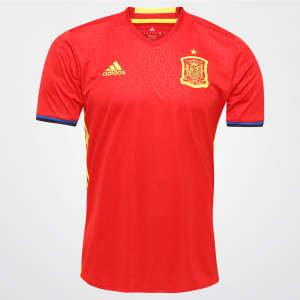 Camisa Adidas da Seleção da Espanha - Home - 2016 S/Nº - R$104,90
