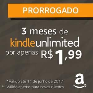 Kindle Unlimited: 3 meses por R$2