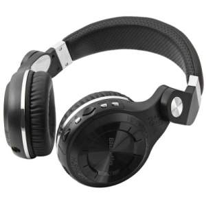 Bluedio T2 + Wireless Bluetooth V4.1 Headphones estéreo com Micrphone Headset Suporte  -  BLACK - R$72,67