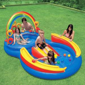 Piscina Inflável Intex Playground Arco - Íris R$212