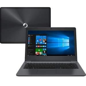 "Notebook Positivo Stilo XC5650 Intel Pentium Quad Core 4GB 500GB Tela LCD 14"" Windows 10 - Cinza Escuro Por R$ 899,99"