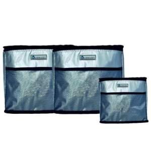 KIT 3 Bolsas Térmicas de 5L +  2 de 10L em PVC, Super leve e dobrável, Alça transversal regulável, Prata- Yins Brasil