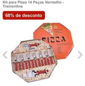 Kit para Pizza 14 Peças Vermelho - Tramontina por R$64,90
