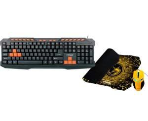 Combo Gamer: Mouse 2.400 DPI + Teclado + Mousepad - R$52.79