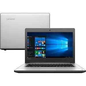 "Notebook Lenovo Ideapad 310 Intel Core i7 8GB 1TB LED 14"" Windows 10 - Prata por R$ 2339"