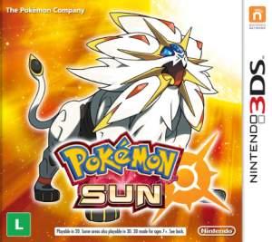 Pokémon Sun Novo por R$116,91