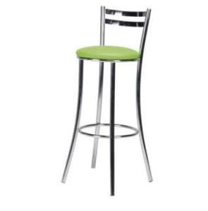 Banqueta Metal e Courino Deccor Design 45 Cromada e Verde por R$ 80