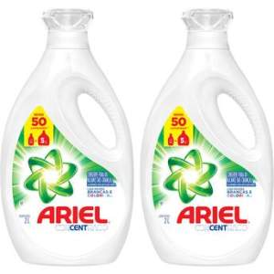 Kit com 2 Unidades de Sabão Líquido Ariel Concentrado 2 litros Cada por R$ 40