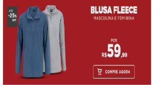 Blusa Fleence Masculina E Feminina R$59,90