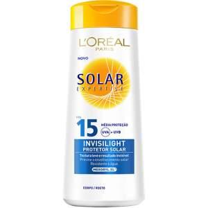 Protetor Solar L'Oréal Paris Expertise Invisilight FPS 15 120ml - R$3,99