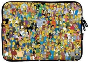 """Capa Protetora Em Neoprene iwill Simpsons Fami Para Tablets Até 7.9"""" R$9"""