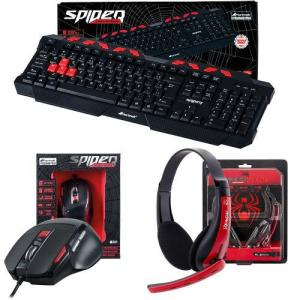 Kit Gamer C/ Teclado + Mouse + Headset Spider Fortrek