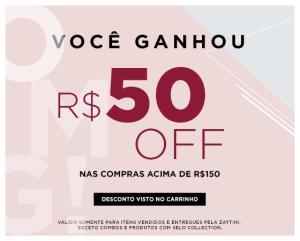R$50 OFF NAS COMPRAS ACIMA DE R$150