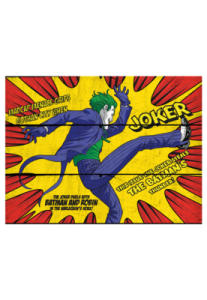 DCO Placa Madeira Dco Kiking Joker Amarelo R$55 [2 unidades restantes]