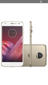 "Smartphone Motorola Moto Z2 Play Dual Chip Android 7.1.1 Nougat Tela 5,5"" Octa-Core 2.2 GHz 64GB Câmera 12MP - Ouro  R$ 1452"