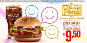 Extra Burger Salada + Bebida Média por R$ 9,50 - Bateu a Fome