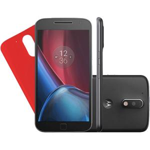Smartphone Motorola Moto G4 Plus Dual Chip Android 6.0 Tela 5.5'' 32GB Câmera 16MP - Preto R$ 855