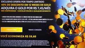 Xbox Live Gold 12 meses por R$ 89,40