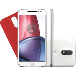 Smartphone Motorola Moto G4 Plus Dual Chip Android 6.0 Tela 5.5'' 32GB Câmera 16MP - Branco R$ 855