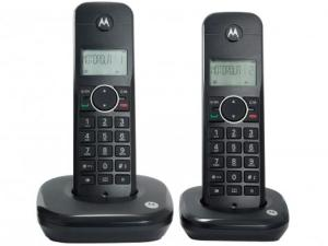 Telefone Sem Fio Motorola MOTO500-ID2 1 Ramal - de Mesa com Identificador de Chamadas Preto - R$140