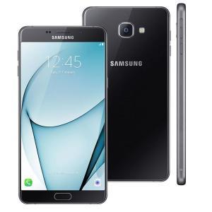 """Smartphone Samsung Galaxy A9 Preto com 32GB, Dual Chip, Tela 6.0"""", 4G, Android 6.0, Câmera 16MP - R$ 1449"""