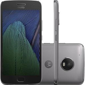 "Smartphone Moto G 5 Plus Dual Chip Android 7.0 Tela 5.2"" 32GB 4G Câmera 12MP - Platinum R$ 950"