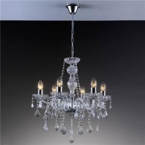 Lustre Candelabro de Cristal Startec Nice 60cm x 60cm x 1,00m Translucido - BIVOLT - R$560