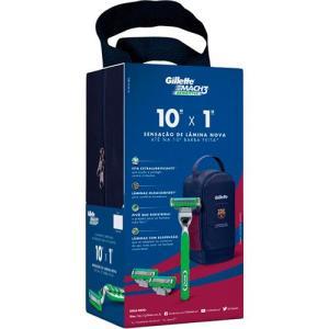 Aparelho Gillette Mach3 Sensitive Edição Barcelona Mais Cartucho Com 2 Unidades e Porta Chuteira Grátis - Por R$ 39,99