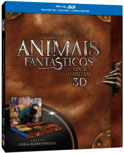 Animais Fantásticos e Onde Habitam - Blu-Ray 3D + Blu-Ray + Cópia Digital - R$57