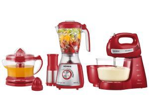 Kit Gourmet Red Premium Mondial - com Liquidificador + Batedeira + Espremedor  - R$179,91