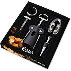 Conjunto para Vinho 5 peças em Inox - Euro Home - Por R$ 52,05