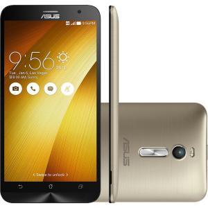 Smartphone Asus Zenfone 2 ZE551ML - 6G545WW c/ Intel Z3580 2.3Ghz, Android 5.0, Tela Full HD 5.5´, 32Gb, Camera 13MP, 4G, Desbloqueado - Dourado Por R$ 999,90