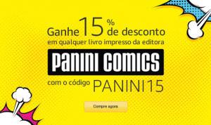 [Amazon] 15% livros impressos Panini