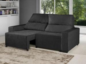 Sofá Retrátil Reclinável 3 Lugares Suede Elegance - American Comfort - R$598,49