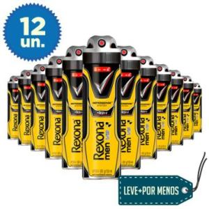 12 Desodorantes Aerosol Rexona Men V8 150ml